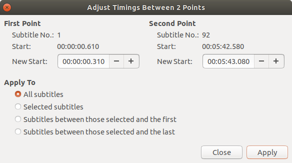 Screenshots | Gnome Subtitles - Video subtitling for the